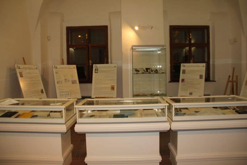 První místnost expozice Jáchymov v literatuře.